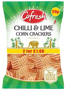Cofresh Chilli & Lime Corn Crackers 70g - ExoticEstore
