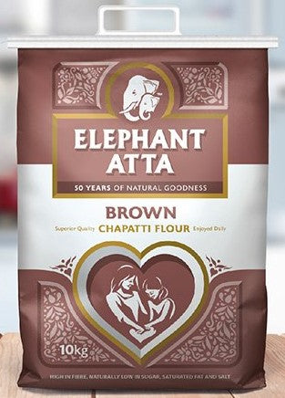 Elephant Atta Brown 10kg PM - ExoticEstore