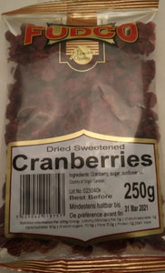 Fudco Dried Sweetened Cranberries 250g - ExoticEstore