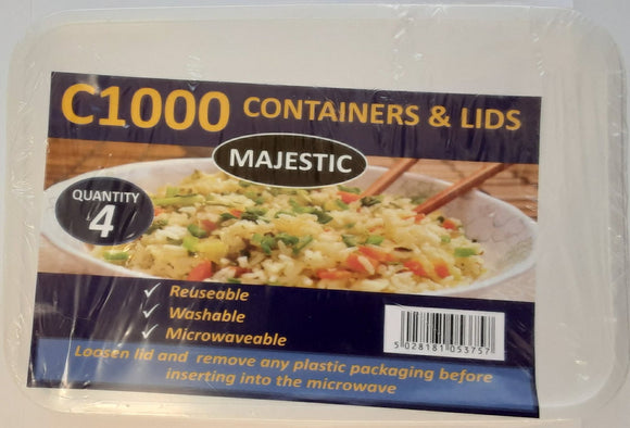 Majestic Containers & Lids 4 pcs c1000 - ExoticEstore
