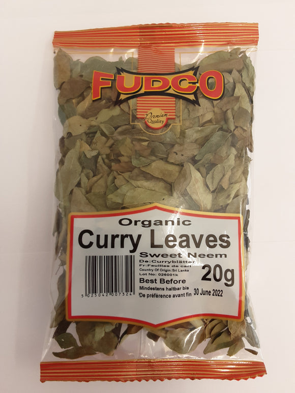 Fudco Curry Leaves Organic 20g - ExoticEstore