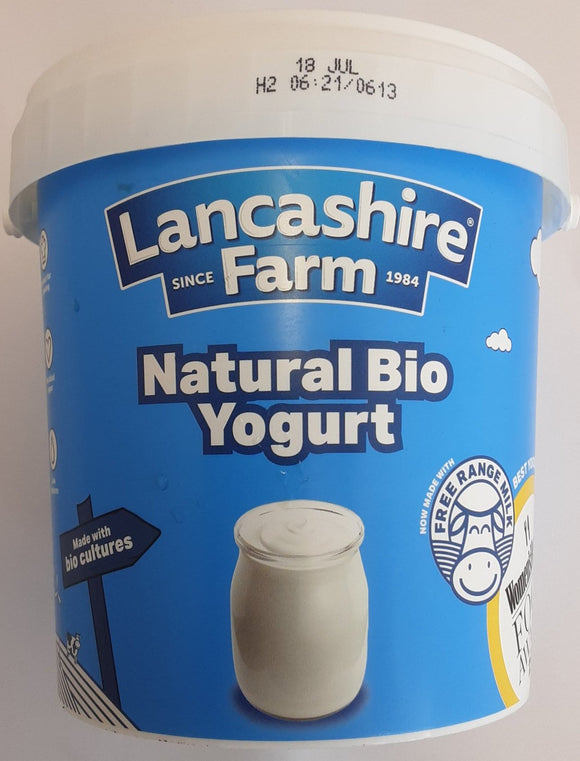 Lancashire Farm Natural Bio Yogurt 1kg - ExoticEstore