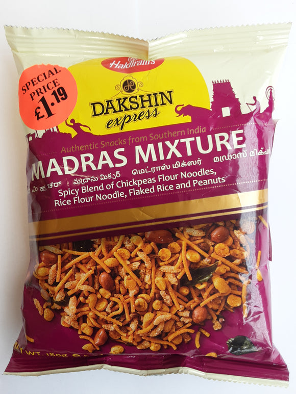 Haldiram Dakshin Express Madras Mixture 180g MP £1.19 - ExoticEstore