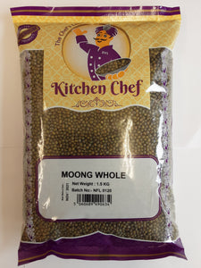 Kitchen Chef Moong Whole 1.5kg - ExoticEstore