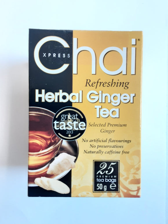 Chai Express Herbal Ginger Tea 25 Bags