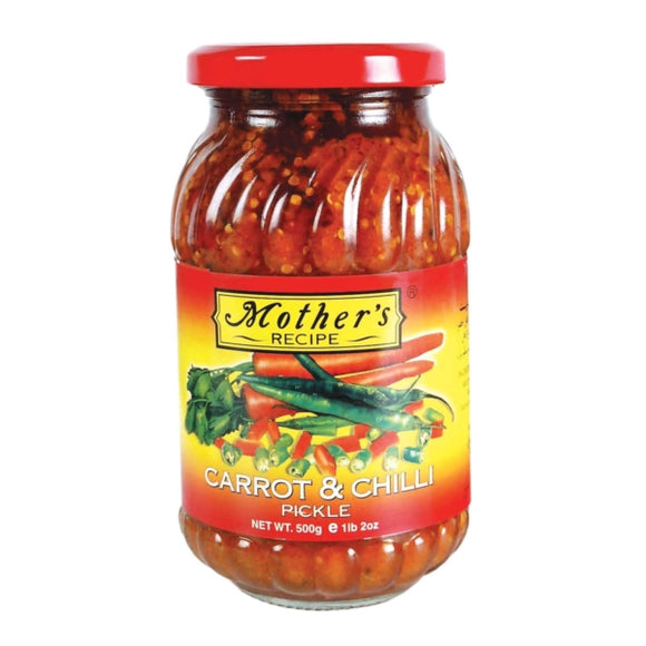 Mothers Carrot and Chilli Pickle - 500g - ExoticEstore