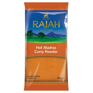 Rajah Madras Hot Curry Powder 400g - ExoticEstore