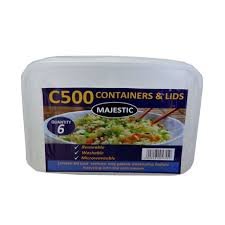 Majestic Containers and Lids 6 pcs c500 - ExoticEstore