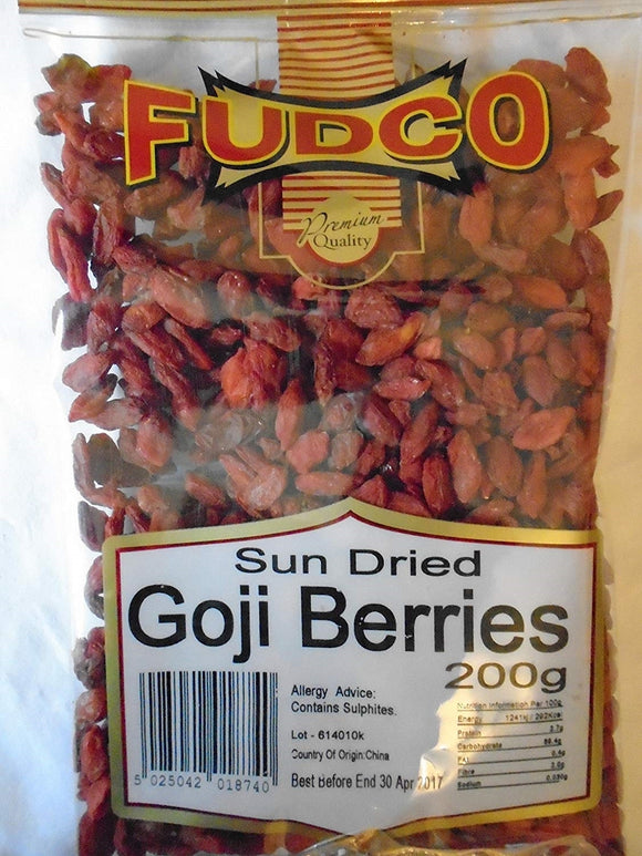 Fudco Sun Dried Goji Berries 200g
