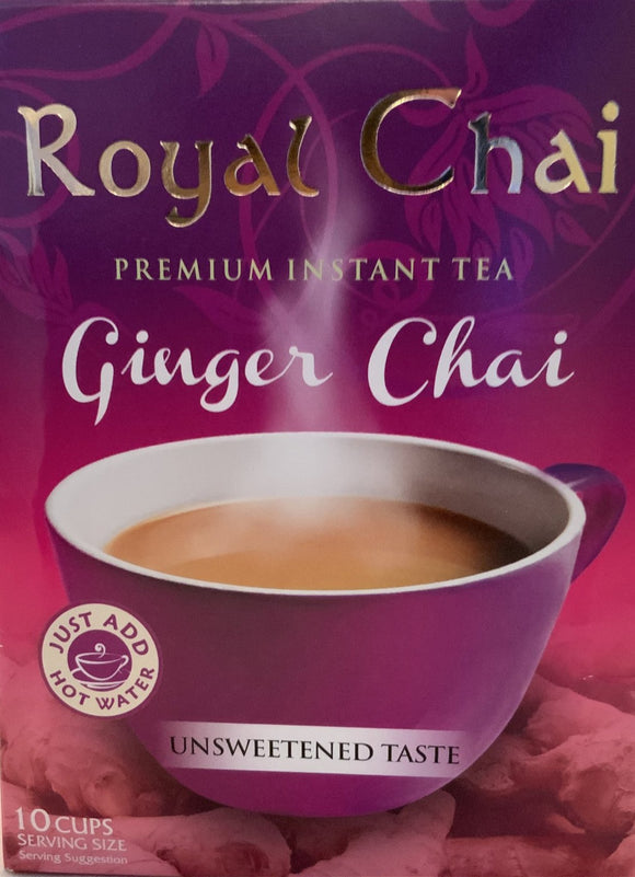 Royal Chai Instant Tea Ginger Chai (Unsweetened) - 180g - ExoticEstore