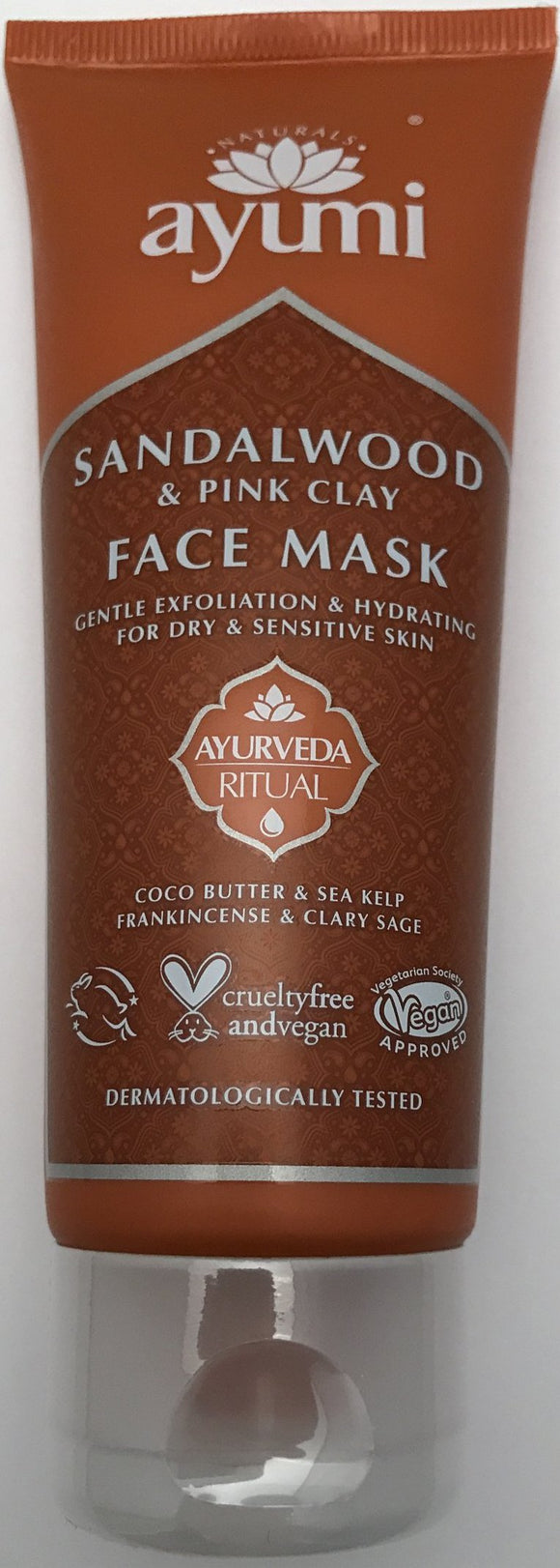 Ayumi Sandalwood and Pink Clay Face Mask - - ExoticEstore