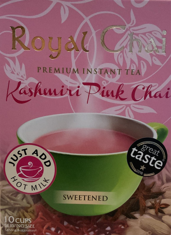 Royal Chai Instant Tea Kashmiri Pink Chai Sweetened - 200g - ExoticEstore