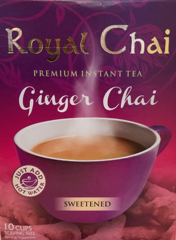 Royal Chai Instant Tea Ginger Chai (Sweetened) - 220g - ExoticEstore