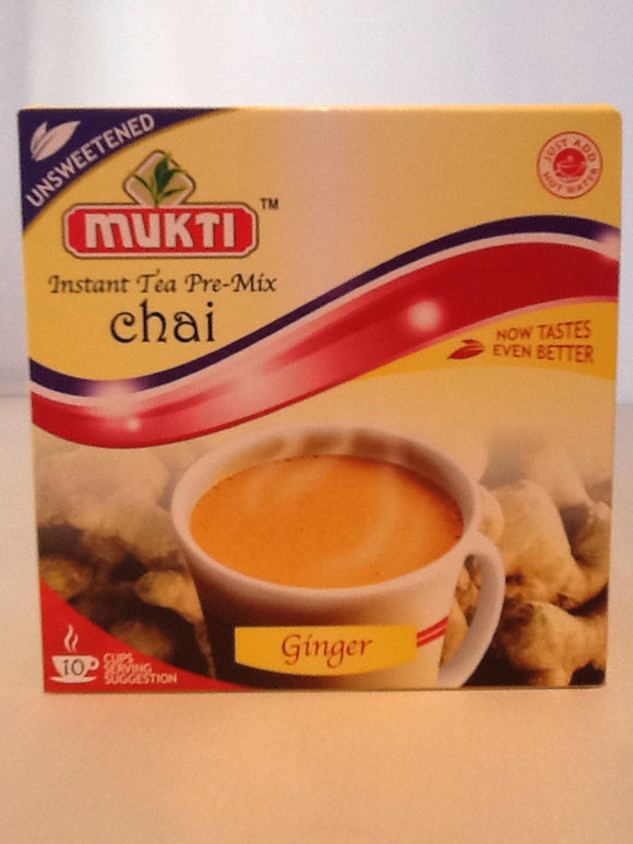 Mukti Instant Tea Pre Mix Ginger Unsweetened 10 Servings 140g - ExoticEstore