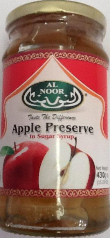 Al Noor Apple Preserve In Sugar Syrup 430g - ExoticEstore