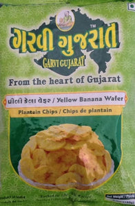 Garvi Gujarat Yellow Banana Wafer Chips 180g - ExoticEstore