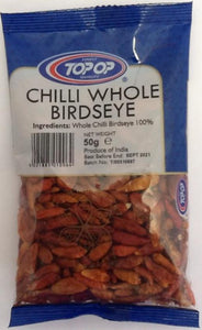Top Op Chilli Whole Birdseye 50g - ExoticEstore