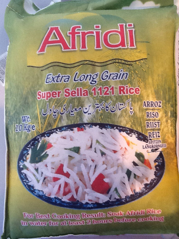 Afridi XL Grain Super Sella 1121 Rice 10kg - ExoticEstore