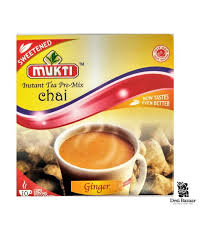 Mukti Instant Tea Pre Mix Ginger Sweetened 10 servings 220g - ExoticEstore