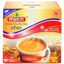 Mukti Instant Tea Pre Mix Masala Unsweetened 10 Servings 140g - ExoticEstore