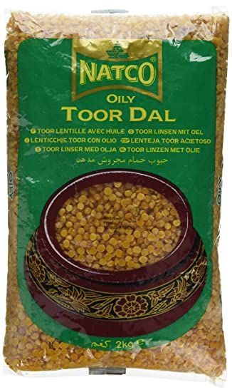 Natco Toor Dall Oily 2kg - ExoticEstore