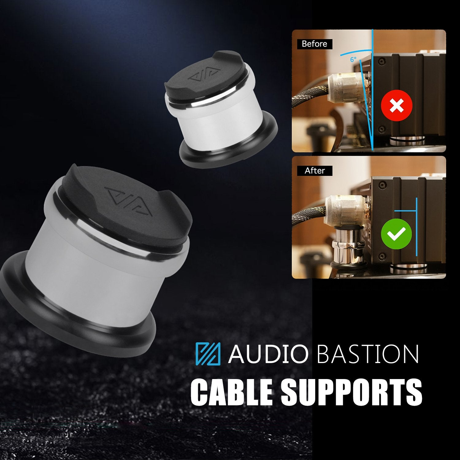 Audio Bastion Connector Weight Support