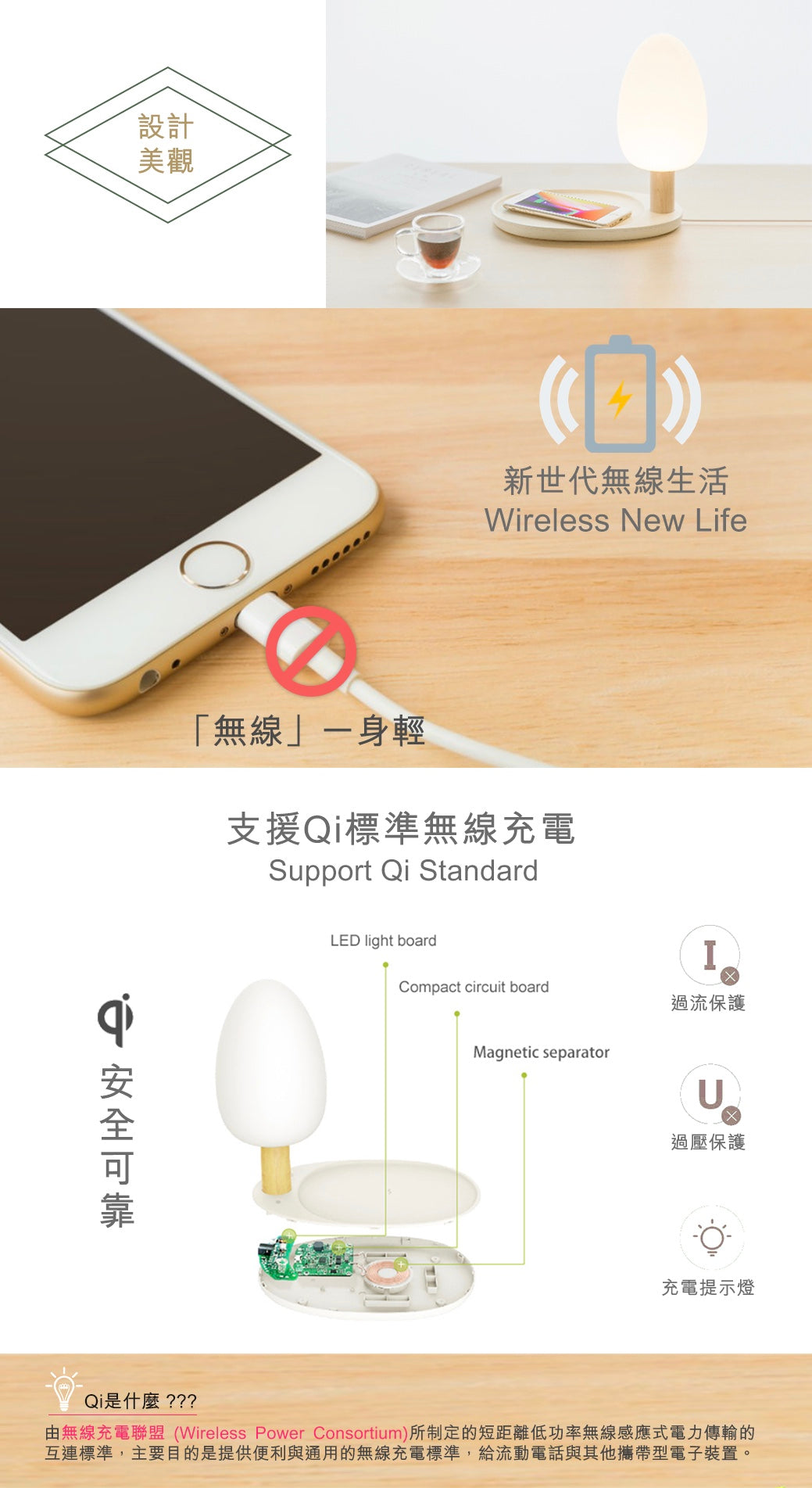 Small Tree Wireless Charging Desk Lamp emoi 小樹無線充電護眼枱燈