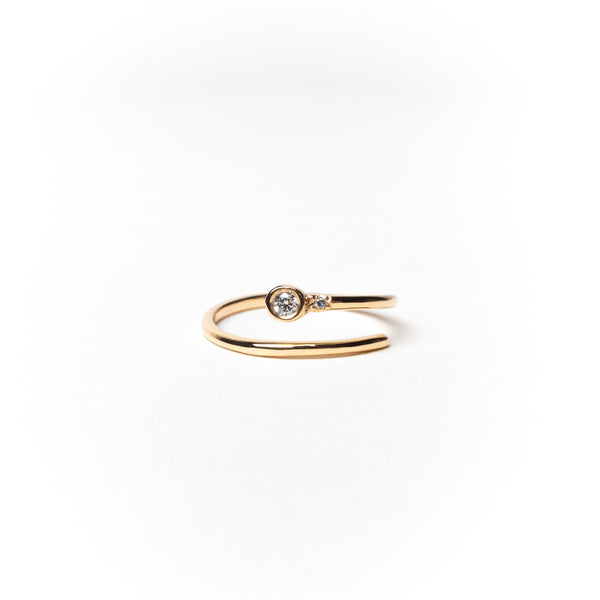 Adjustable Diamond Ring, Solid 14k Gold (5222628294700)