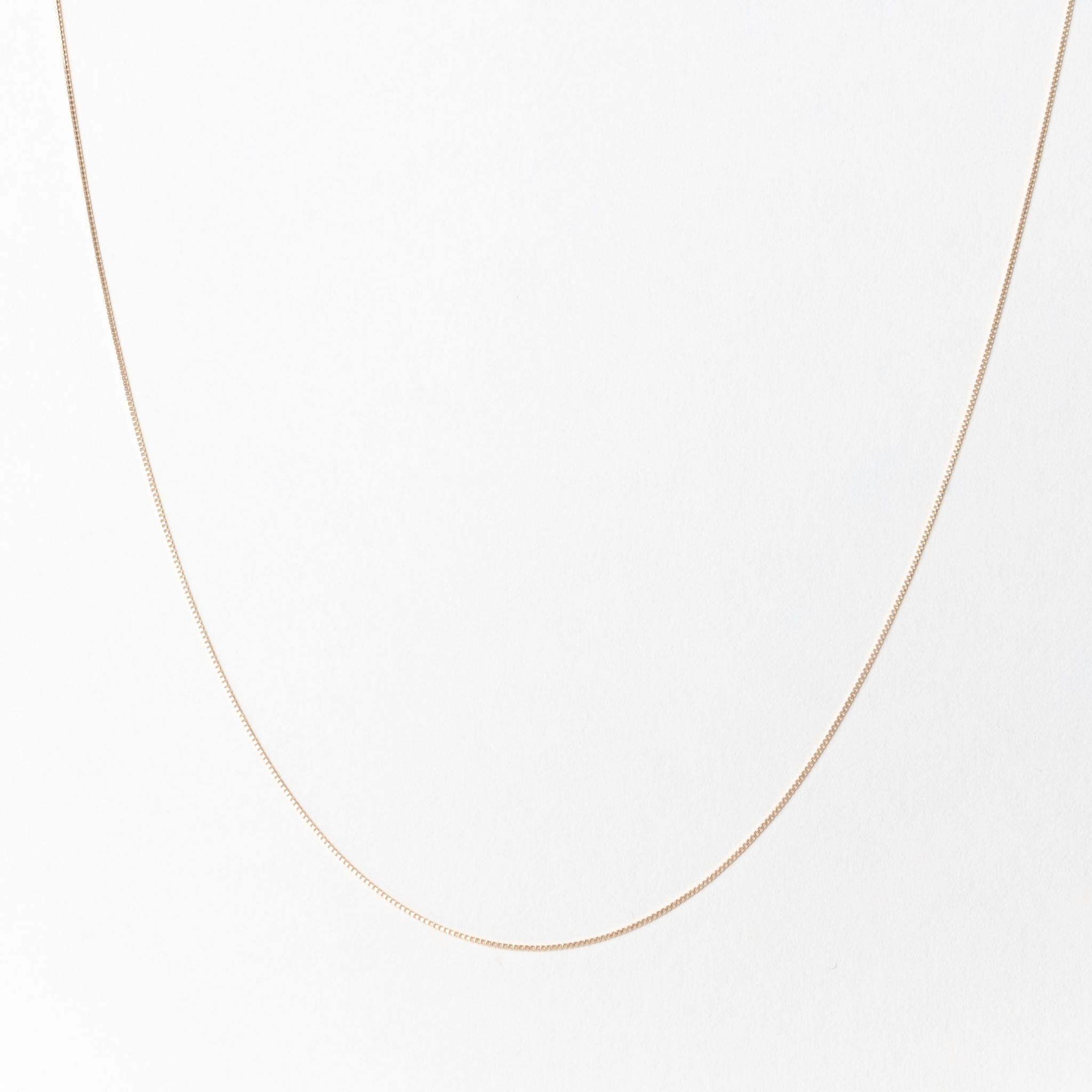 Everyday Thin Box Chain Necklace, Solid 18k Gold (5275514339372)