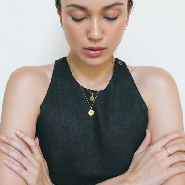 Everyday Cable Chain Necklace, Solid 18k Gold (5068195299372)