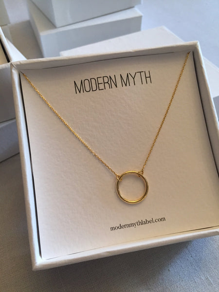 Circle Necklace, Solid 18k Gold (5068198051884)