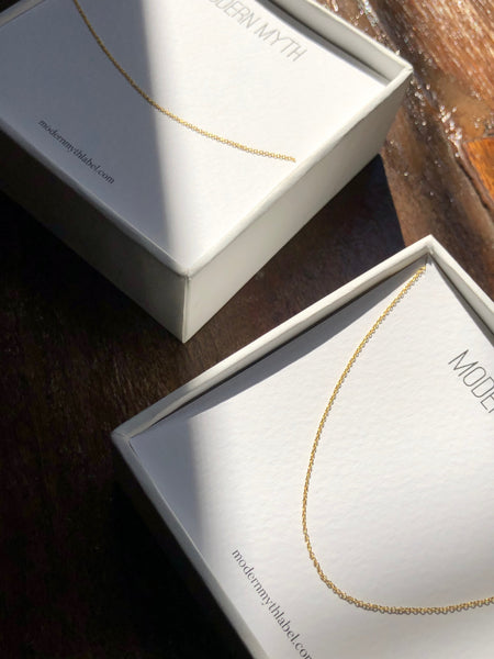 Everyday Cable Chain Necklace, Solid 18k Gold