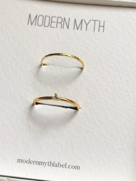 Hammered Skinny Ring, Solid 14k Gold | MM x Kimi (5068219613228)