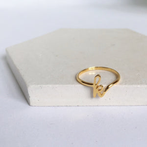 Initial Ring, Solid 14k Gold (5395334430764)