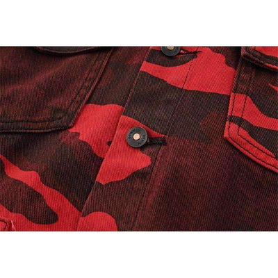 Rojo Hero Denim Shirt - IkigaiSoul