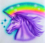 371 Unicorn head with rainbow