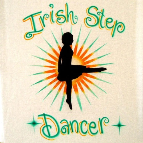 Irish step dancer