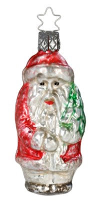 Nikolaus Glass Ornament by Inge Glas of Germany