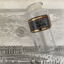 Load image into Gallery viewer, Antique Apothecary Bottle with Stopper - Calc Hydras