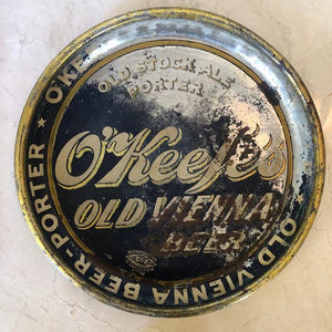 Vintage Old Vienna Tin Beer Tray c1940