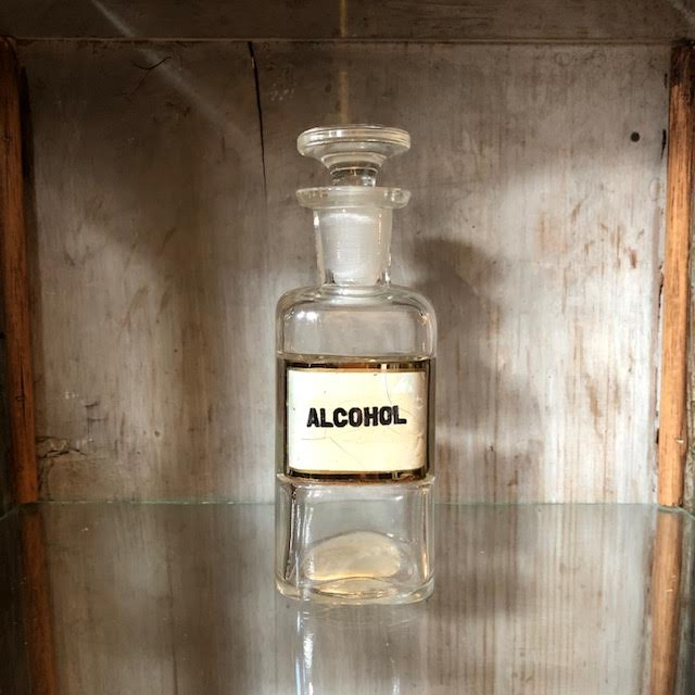 Antique Pharmacy Bottle Alcohol