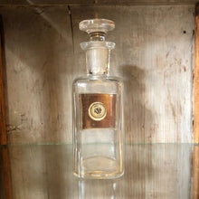 Load image into Gallery viewer, Antique Apothecary Bottle with Stopper - Listerine  c1900