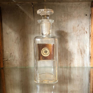 Antique Apothecary Bottle with Stopper - Listerine  c1900