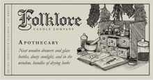 Load image into Gallery viewer, Apothecary Candle 10oz by Folklore Candle Company Made in Ontario Canada