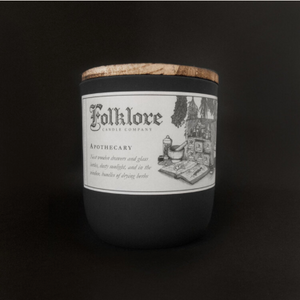 Apothecary Candle 10oz by Folklore Candle Company Made in Ontario Canada