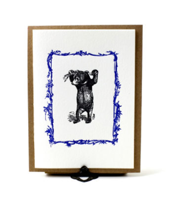 Austin Press Bear Letterpress Card
