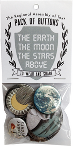 Earth Moon Stars Button Pack