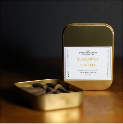 Commonwealth Provisions Eucalyptus Sea Salt Incense Cones