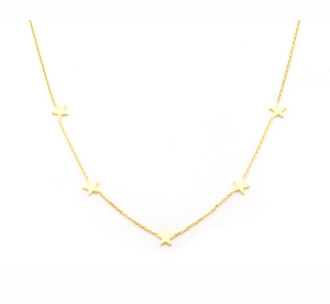 Five Star Gold Plated Necklace