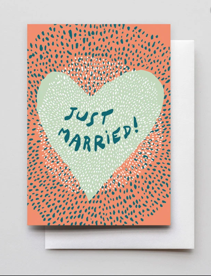 Just Married Heart Card